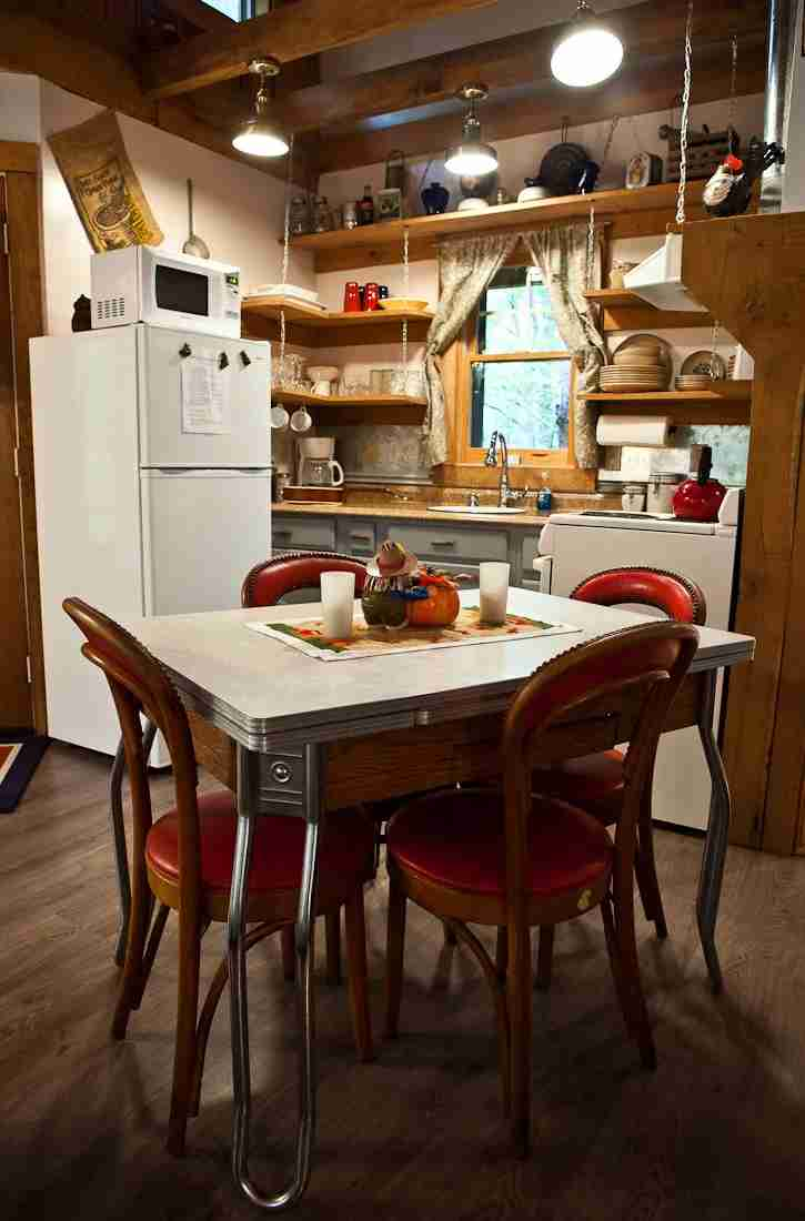 A rustic kitchen covers all of the basics. Photo by Sheila Tjelmeland.