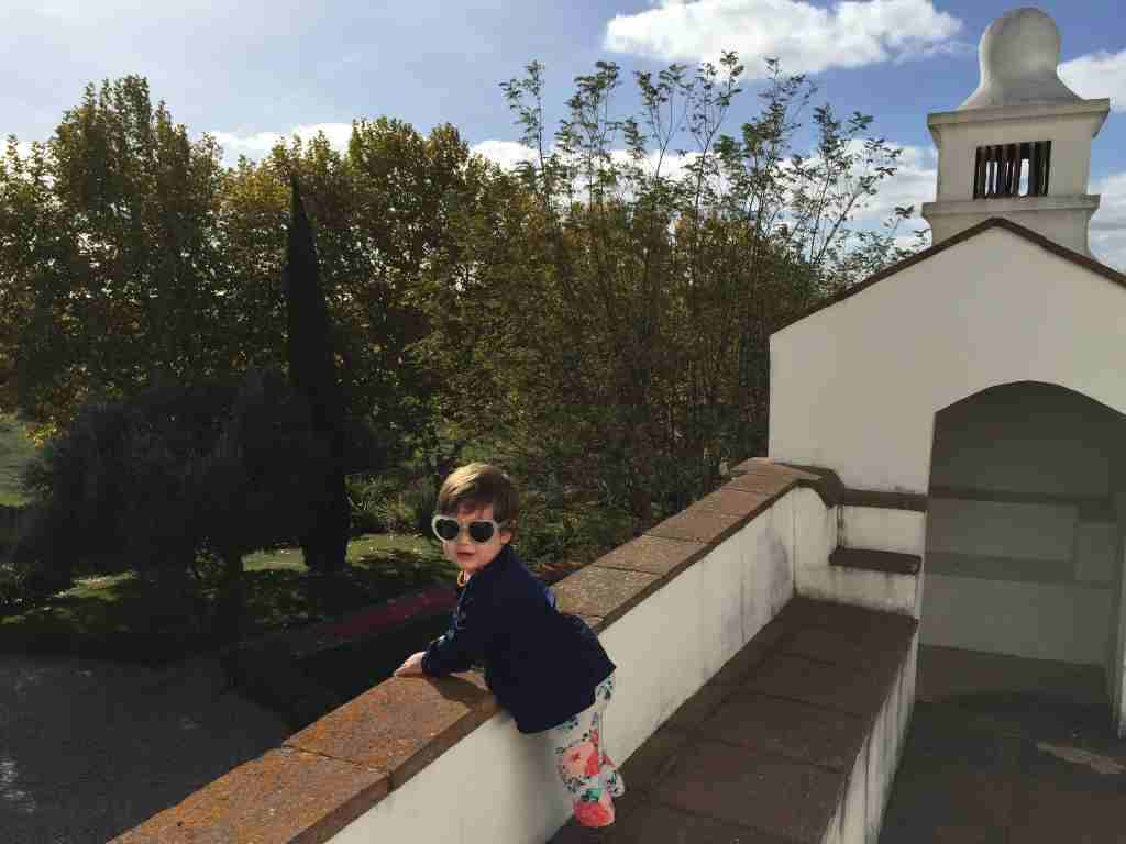 Checking my reservation showed me that we had been upgraded to a deluxe room with a balcony at the Convento do Espinheiro in Portugal; Evy was impressed.