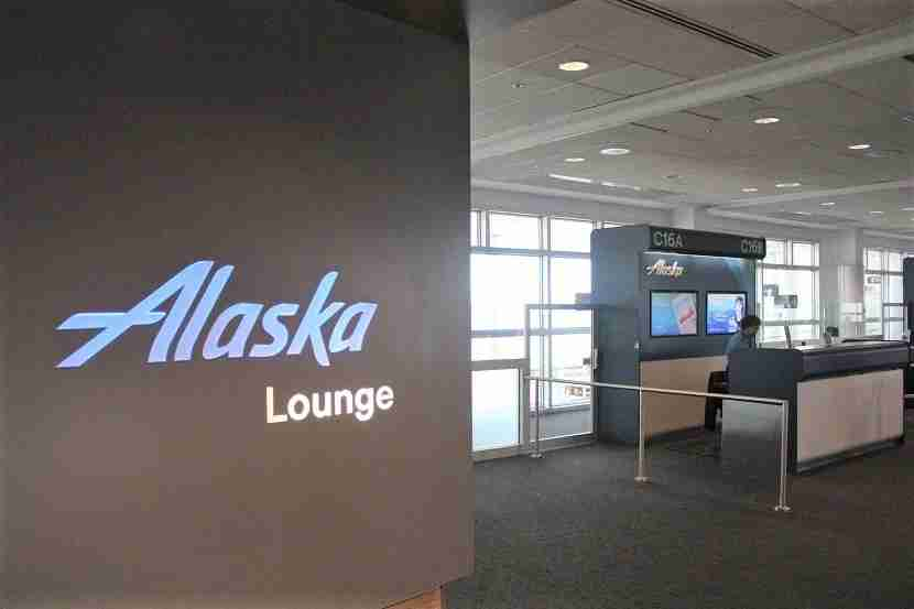 IMG Alaska Airlines Lounge Seattle entrance