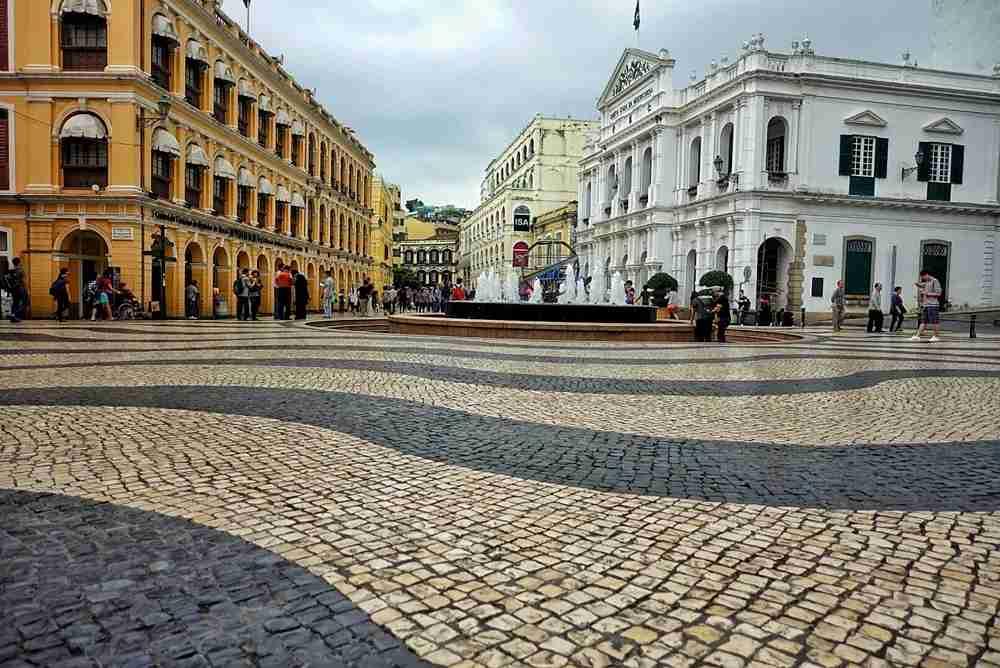 Portugal or Macau? The Largo do Senado. Image by the author.