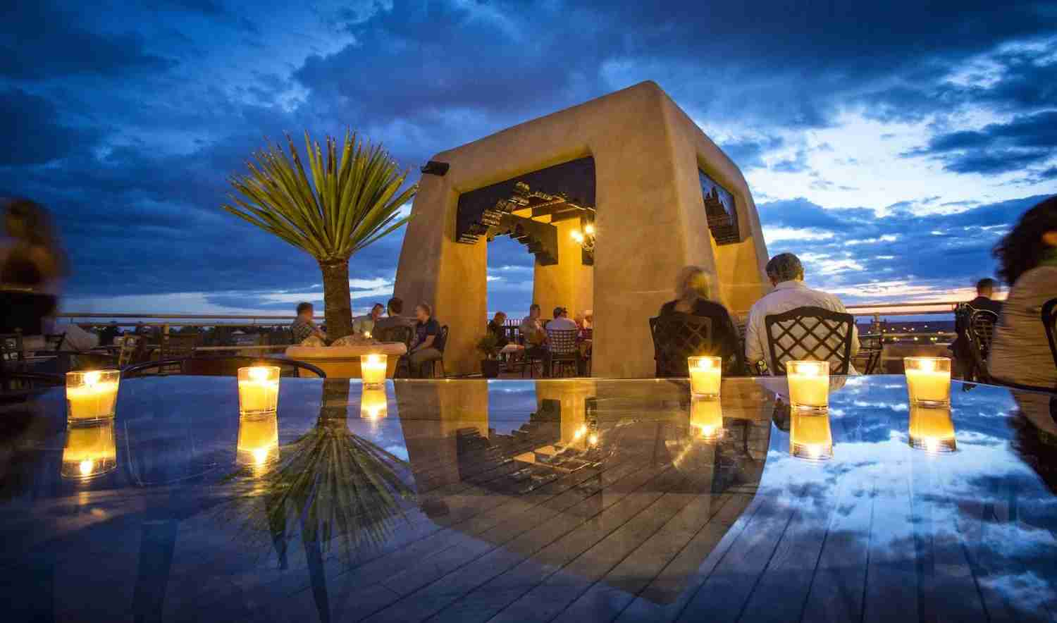Soak up the sunset in Santa Fe. Image courtesy of Bell Tower Bar.
