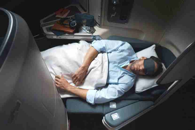 Cathay business class on the Airbus A350.