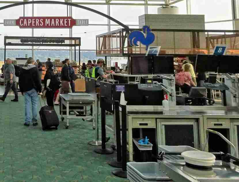 Once you pass through the TSA checkpoint at PDX, it