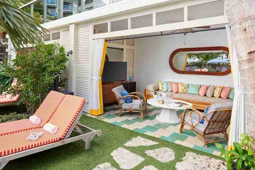 The new Confidante Miami Beach has everything you need for a relaxing Miami getaway — rooftop spa included. Image courtesy of the hotel.