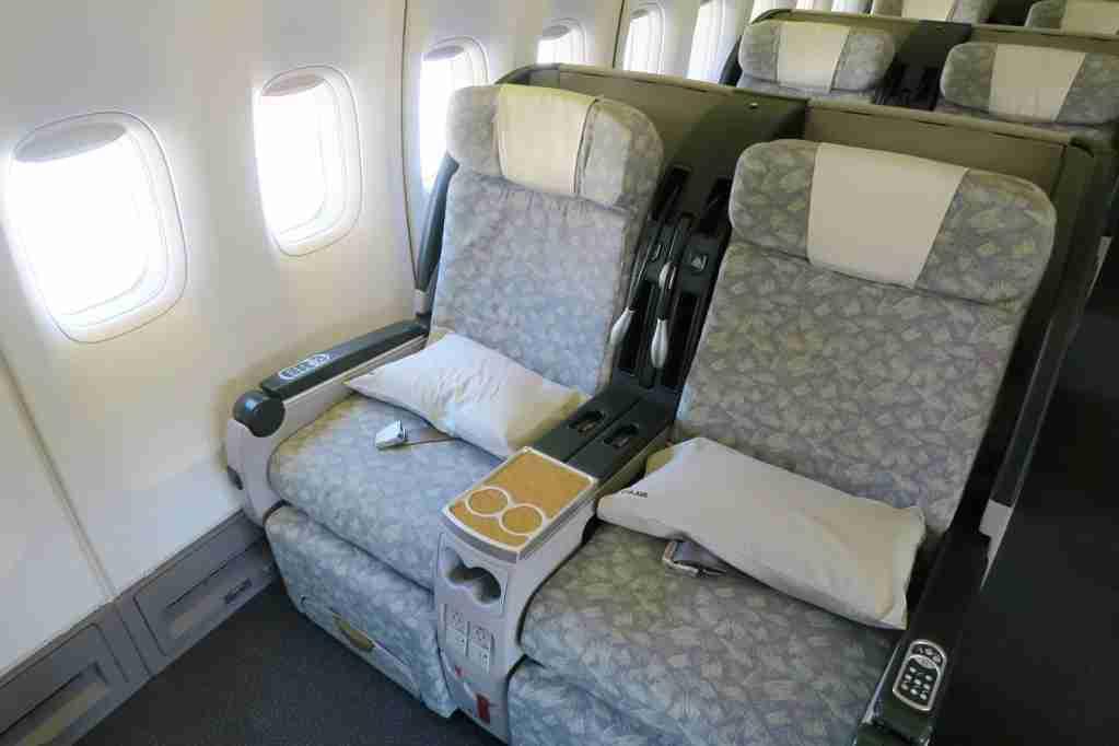 EVA Air 747 Premium Laurel business class
