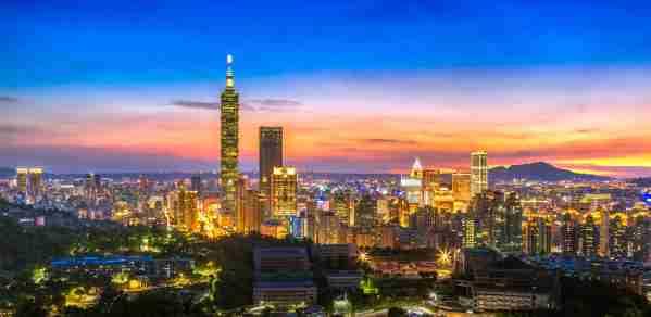 Taipei skyline at night. (Photo by GoranQ/Getty Images)