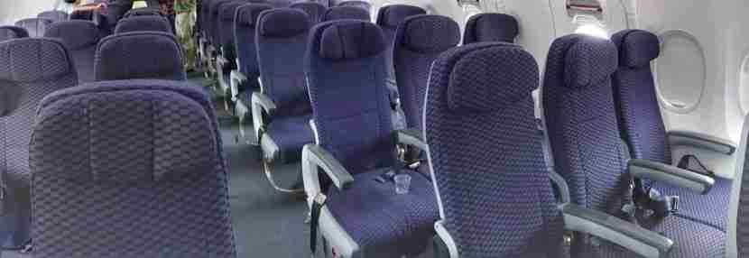 The plane and its seats looked a lot like United aircraft I