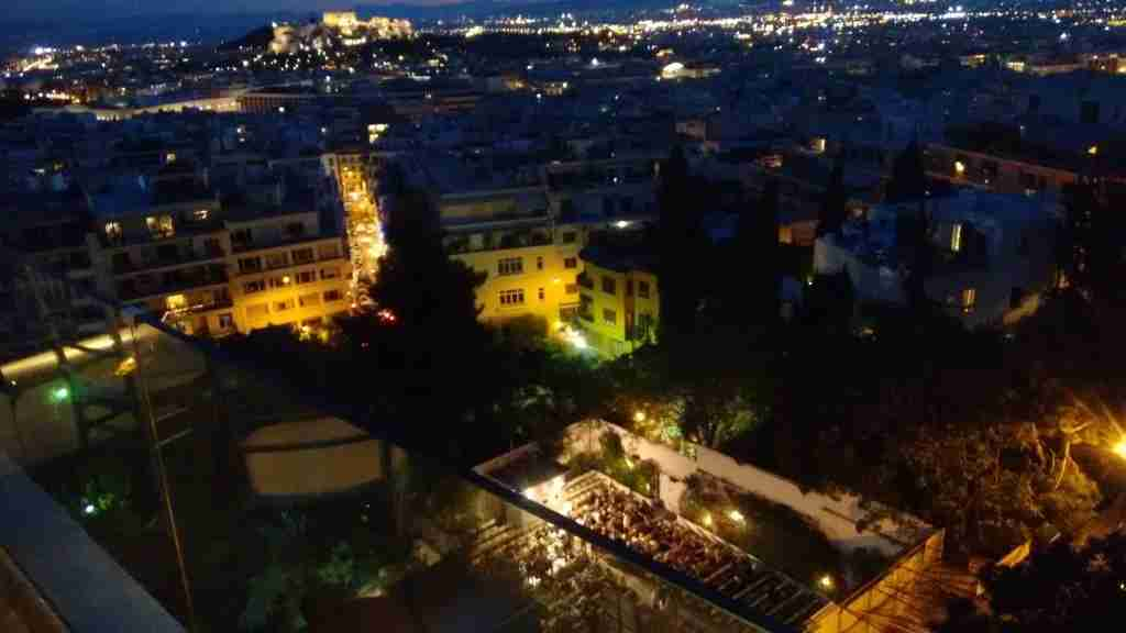 Athens is famous for its outdoor cinemas. Dexameni, seen here from above, is one of the best.