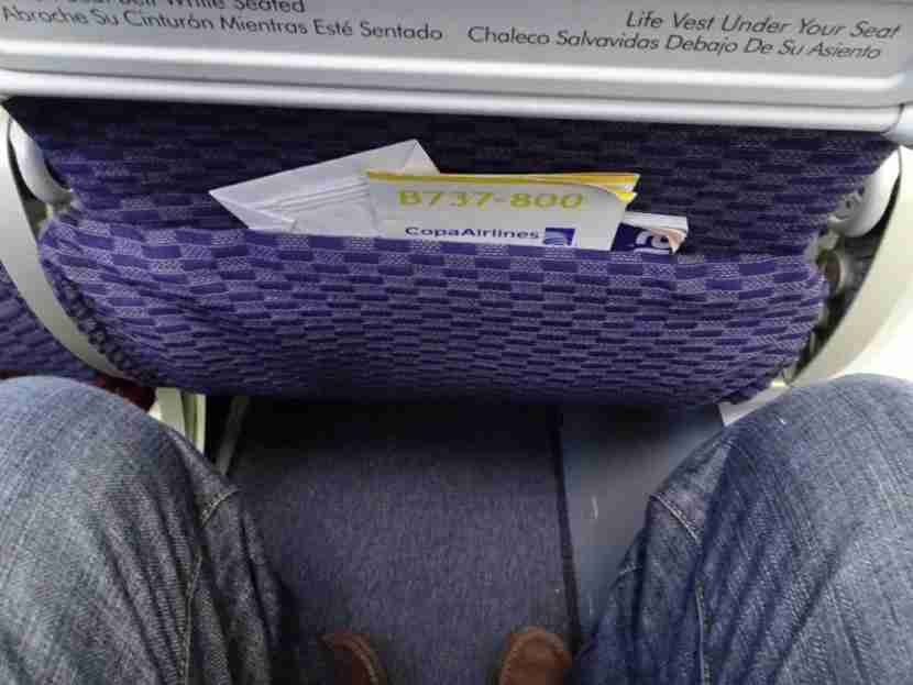The legroom was tight.