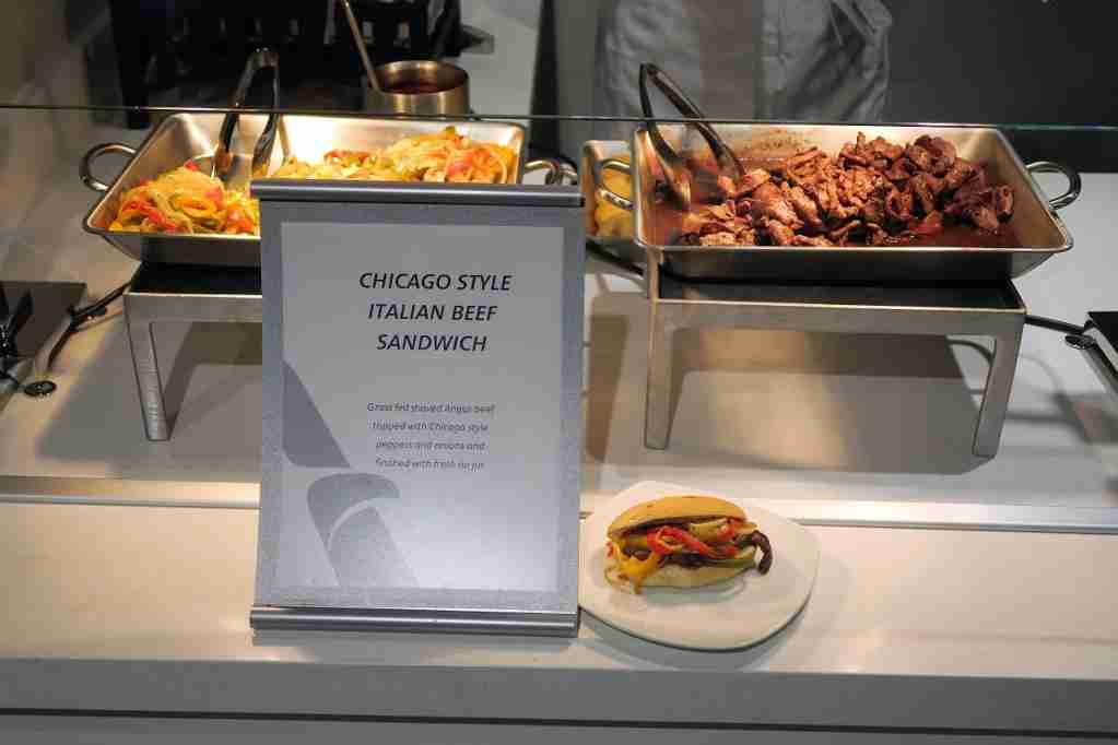 AA ORD Flagship Lounge - Chicago Style Italian Beef bar