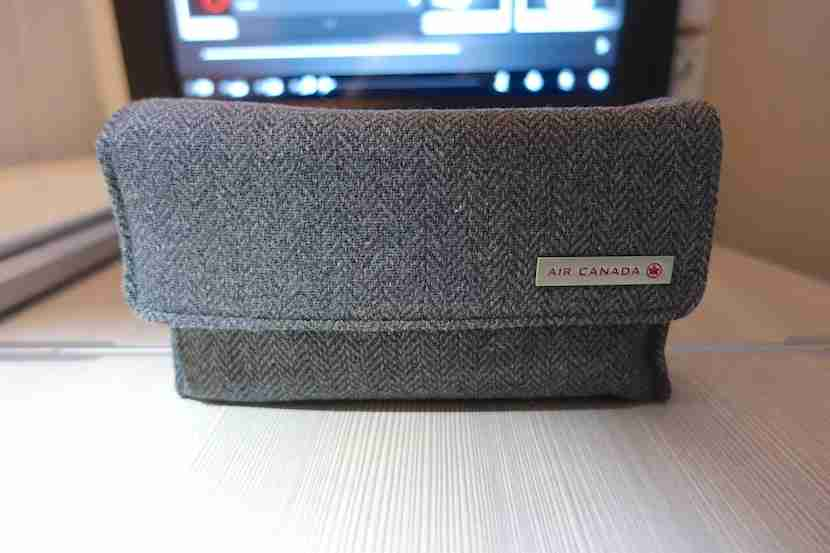 Air Canada amenity kit