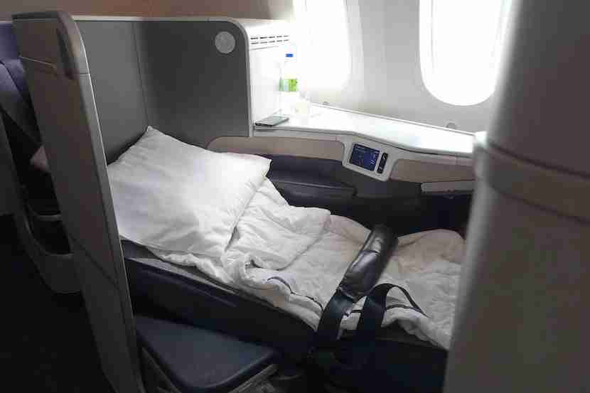 Air Canada bed eye level 1