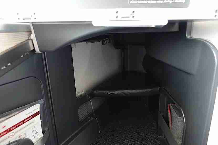 Air Canada footwell
