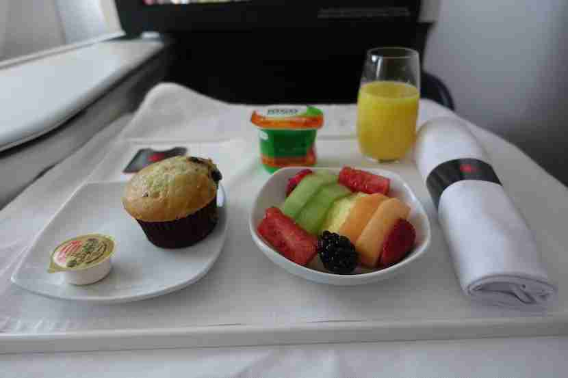 Air Canada fruit muffin