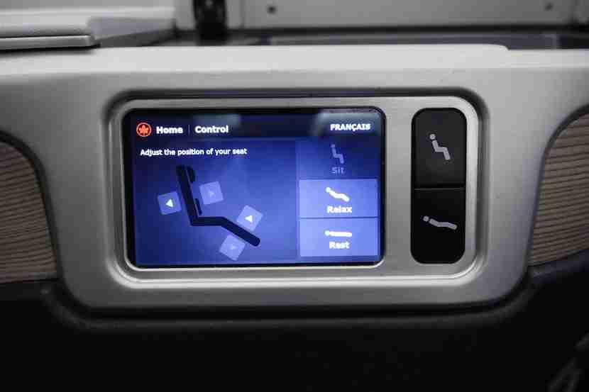 Air Canada seat control 3