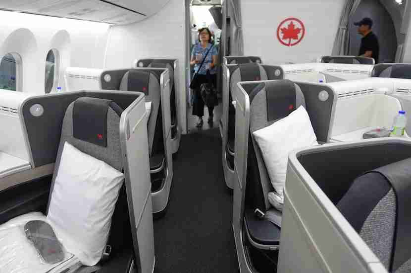 Air Canada side seats aisle