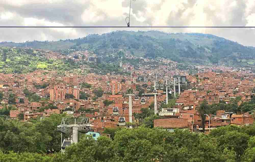 The Medellín cable car. Photo by Lori Zaino.