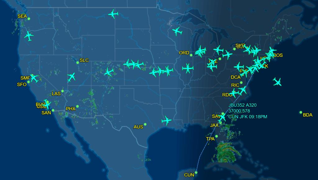 FlightAware JetBlue flights