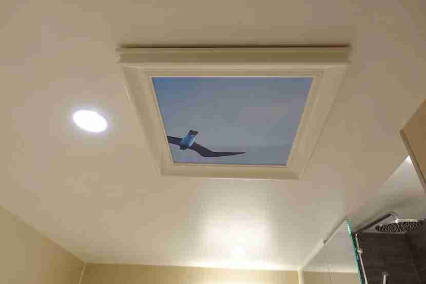 Radisson Blu Royal Viking bathroom overhead