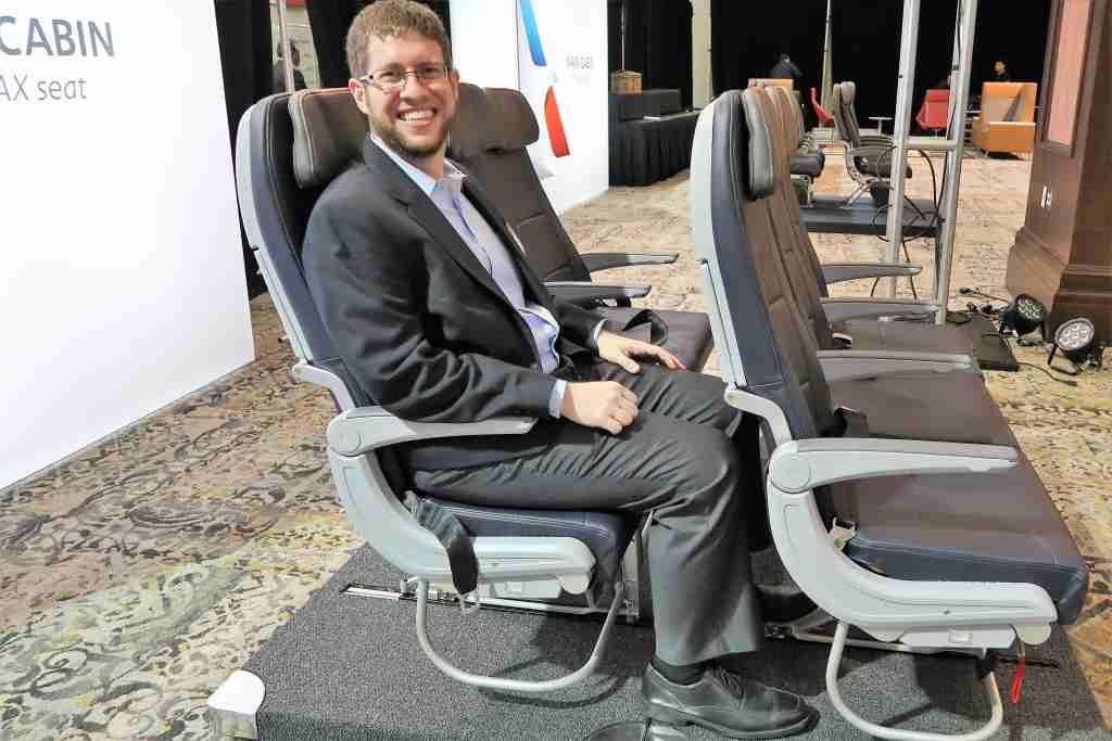 Testing the new AA slimline 737 MAX seats (5
