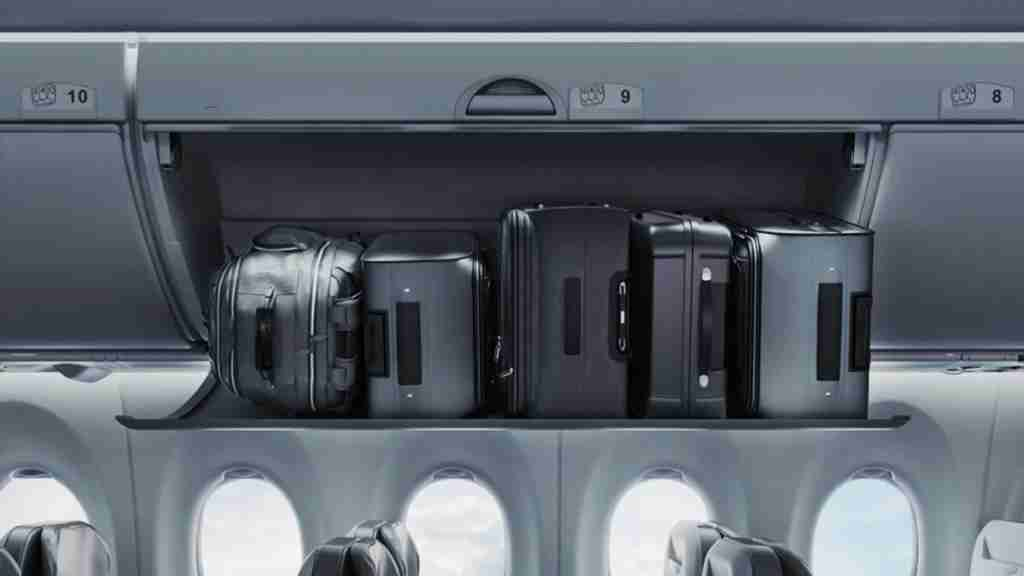 One roller bag per seat is a win for passengers. (photo: Bombardier)