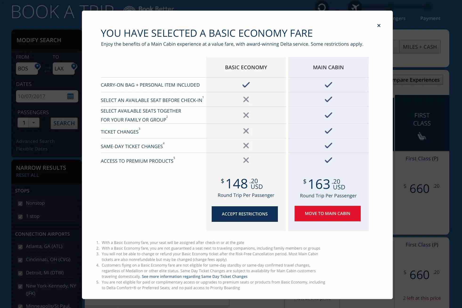 Delta Basic Economy - 3