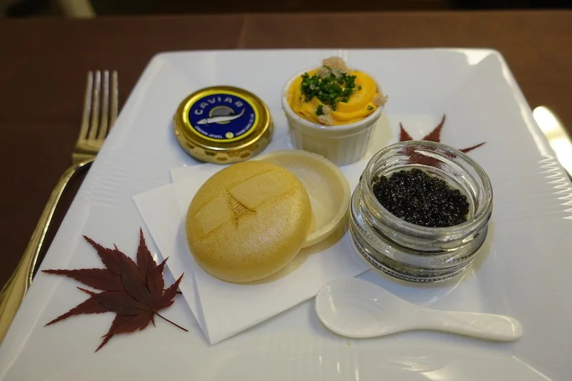 JAL first class caviar good