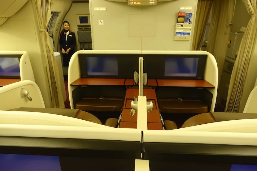 JAL first class middle seats over