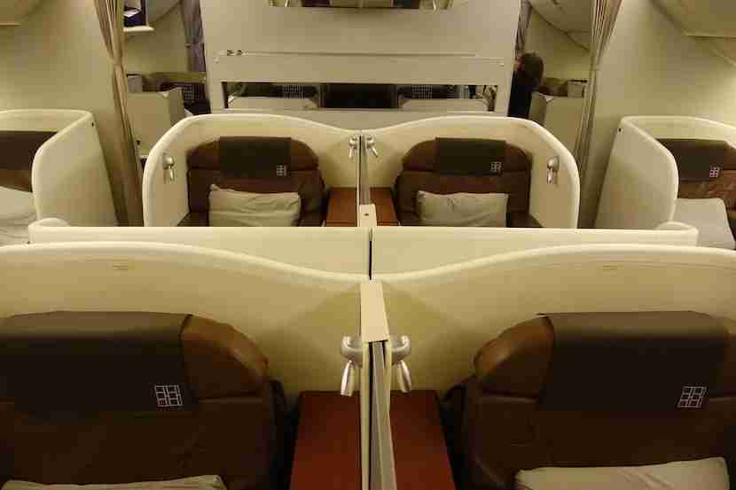 JAL first class middle seats