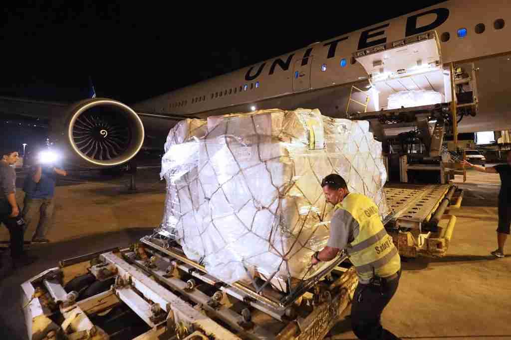 United 77W Relief Flight San Juan Puerto Rico