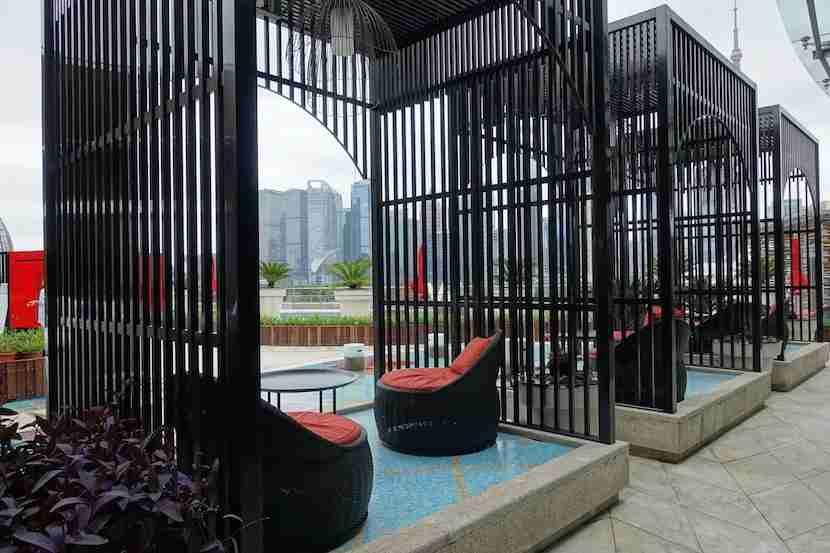 W Shanghai cabanas