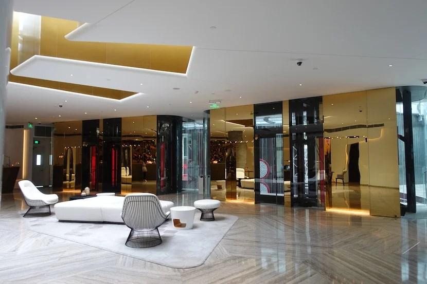 W Shanghai elevators 1