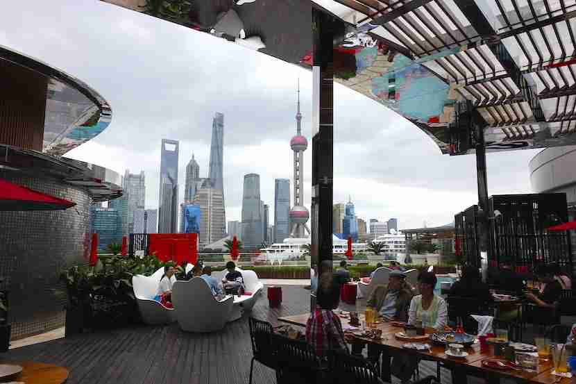 W Shanghai outdoor dining