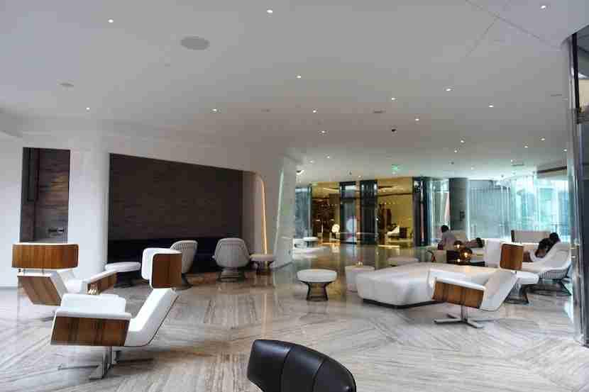 W Shanghai white lounge