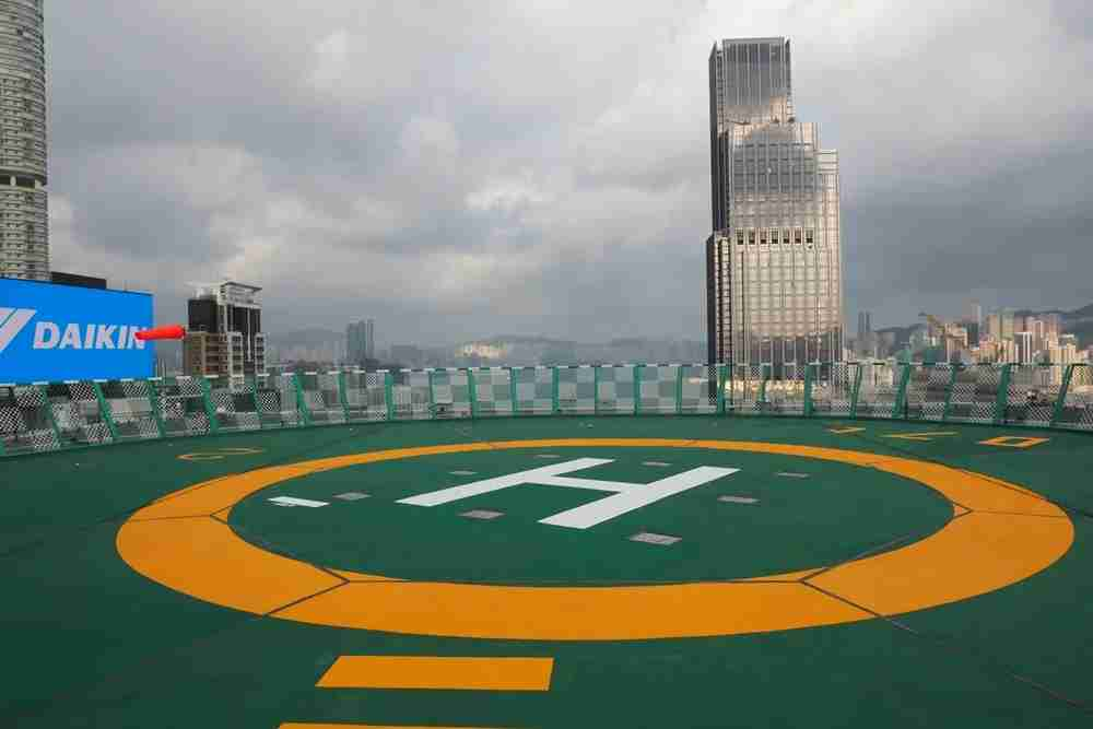 The Penisula Hong Kong has its very own twin set of helipads.