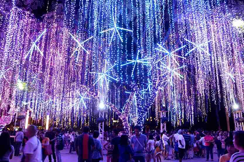 The Festival of Lights at the Ayala Triangle Gardens in Makati City
