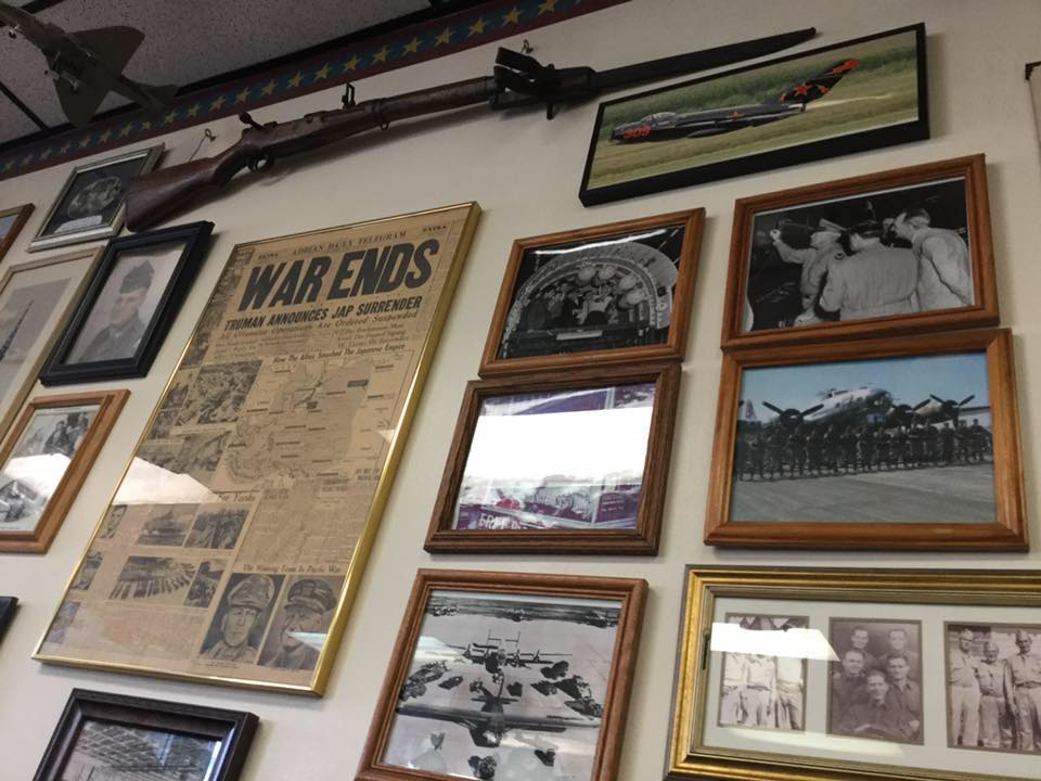 Memorabilia on the walls of the Bomber Restaurant in Michigan. Image by Bomber Restaurant Facebook page.