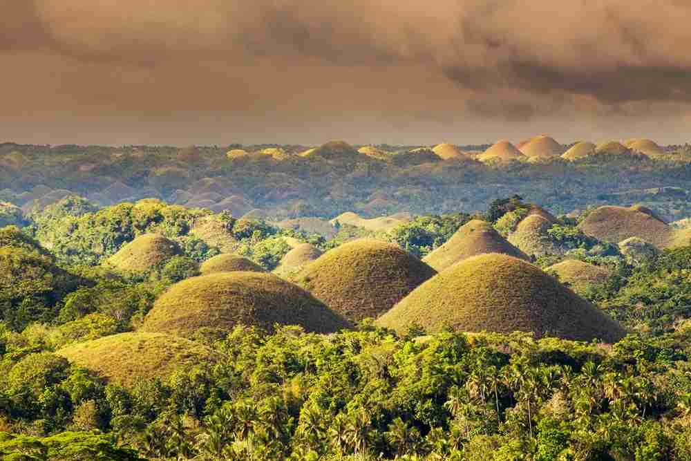 The Chocolate Hills in Bohol, Philippines. Image by Afriandi / Getty.