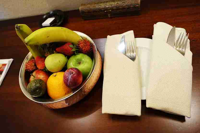 Fruit basket Al Maha Desert Resort Dubai Review