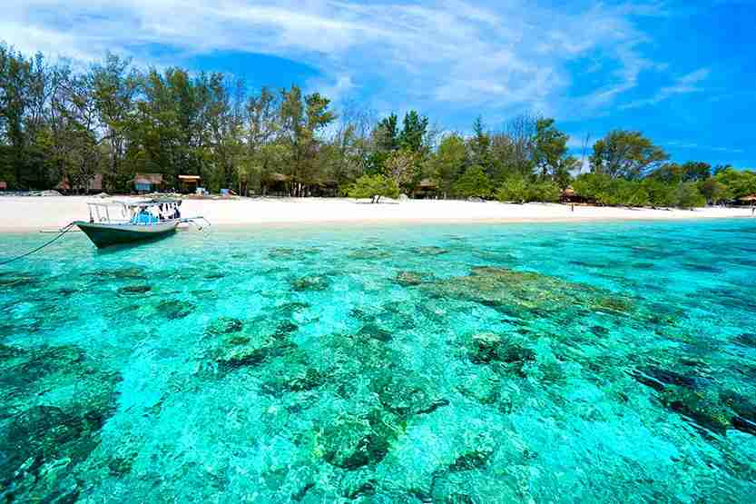The clear waters of Gili Meno in Indonesia. Image by Luciano Mortula / Getty Images.