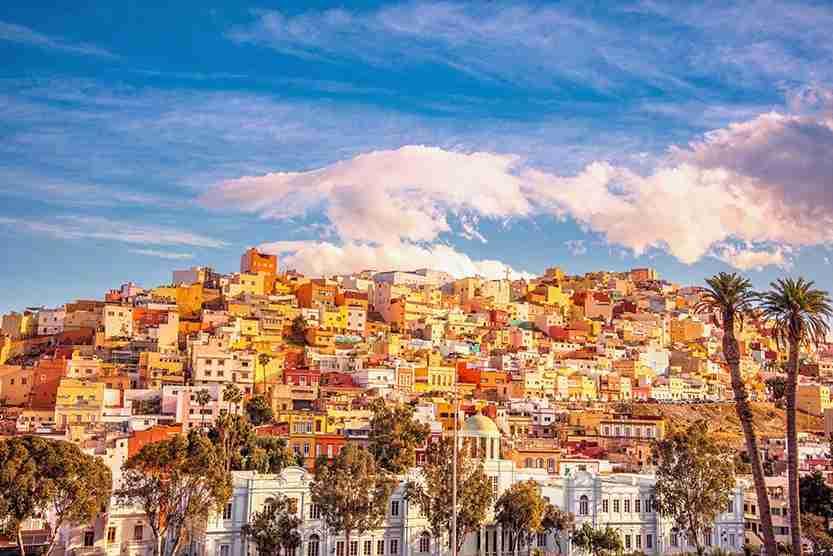 Las Palmas de Gran Canaria is a colorful city. Image by Juergen Sack / Getty Images.