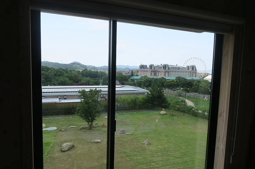 View of the Huis Ten Bosch theme park from our room.