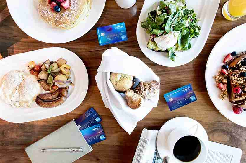Hilton Honors American Express Cards. (Photo courtesy of American Express)