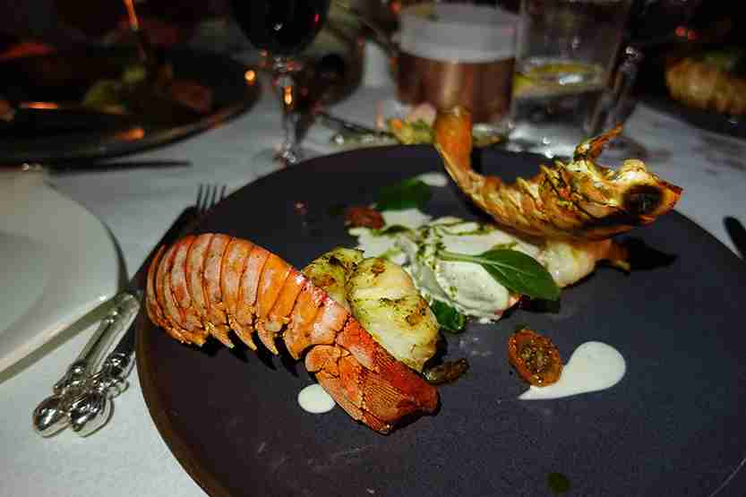 Lobster dinner Al Maha Desert Resort Dubai Review