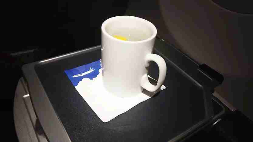 I got a mug of hot water... and not much else.