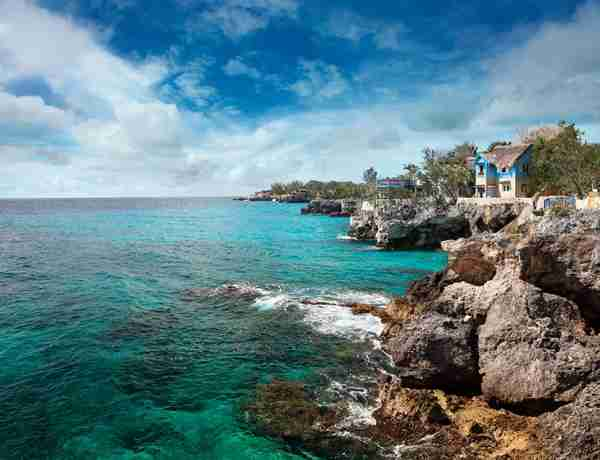 The rocky side of Negril,Jamaica. Image by narvikk / Getty Images.