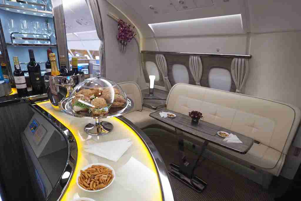 Emirates A380 New Business Class Bar