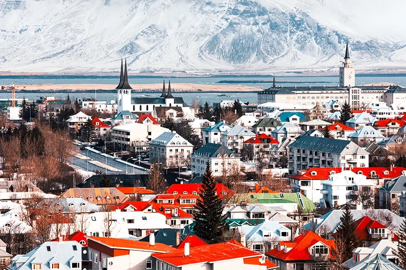 All roads lead to Reykjavik, Iceland. Photo by powerofforever / Getty Images.