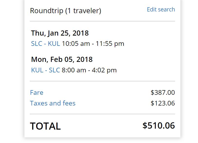 SLC-KUL $510 United