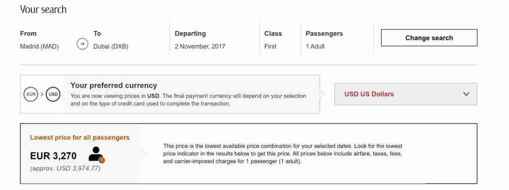 Screenshot booking